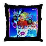 Fabulous Demented Diva Clown Throw Pillow