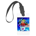 Fabulous Demented Diva Clown Large Luggage Tag
