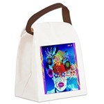 Fabulous Demented Diva Clown Canvas Lunch Bag