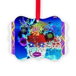 Fabulous Demented Diva Clown Picture Ornament