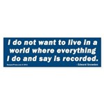 Edward Snowden Bumper Sticker