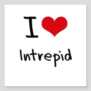 """I Love Intrepid Square Car Magnet 3"""" x 3"""""""