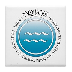 Aquarius Tile Coaster