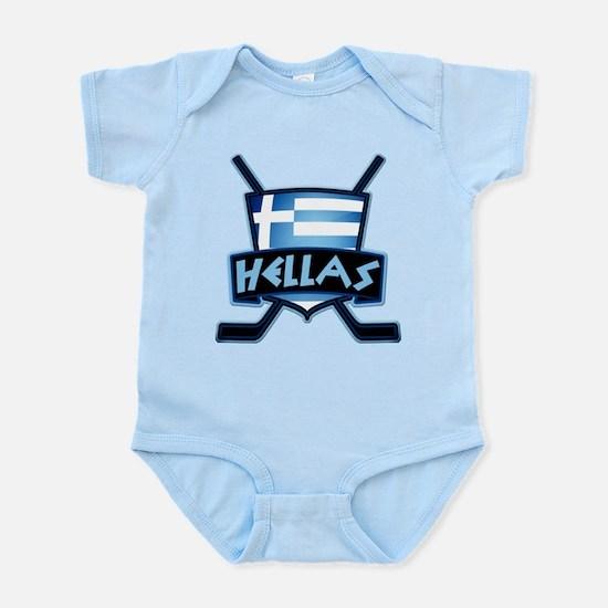 Greece Ice Hockey Shield Hellas Body Suit