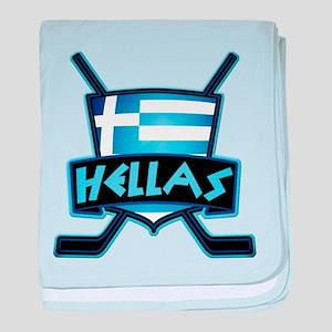Greece Ice Hockey Shield Hellas baby blanket