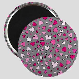 'Scattered Hearts' Magnet