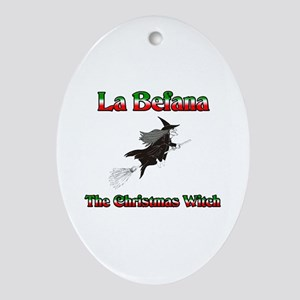 La Befana The Christmas Witch Oval Ornament
