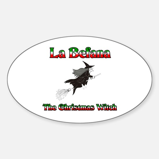 La Befana The Christmas Witch Oval Decal