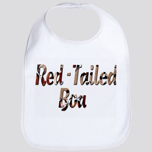 Red Tailed Boa Letters Bib