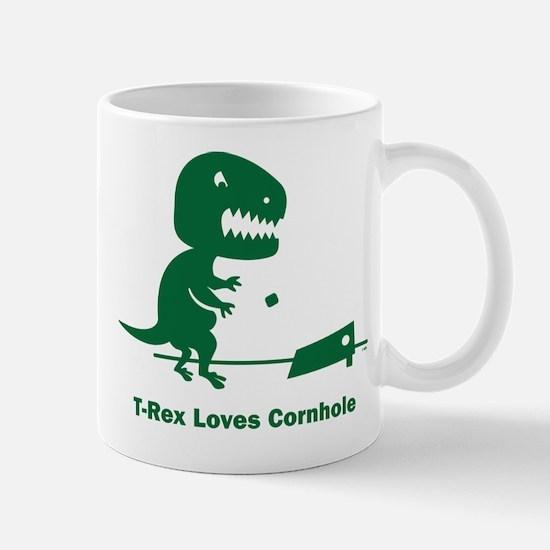 T-Rex Loves Cornhole Mug