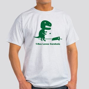 T-Rex Loves Cornhole Light T-Shirt