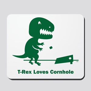 T-Rex Loves Cornhole Mousepad