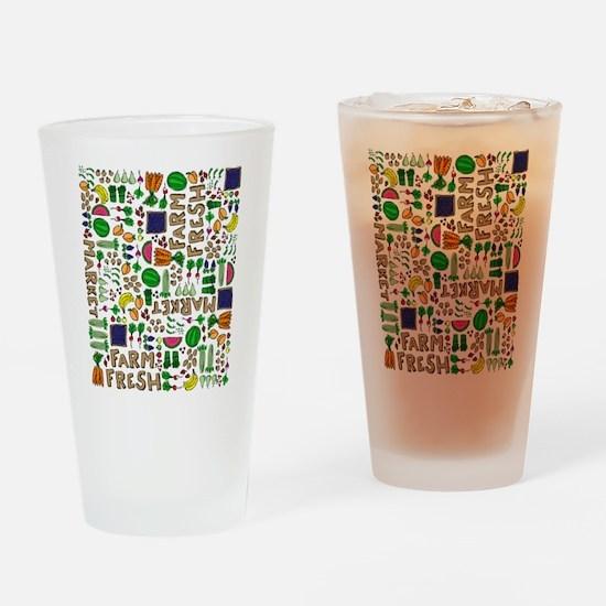 Farmers Market Medley Drinking Glass