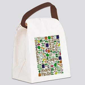 Farmers Market Medley Canvas Lunch Bag