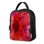 Pink Leaves Neoprene Lunch Bag