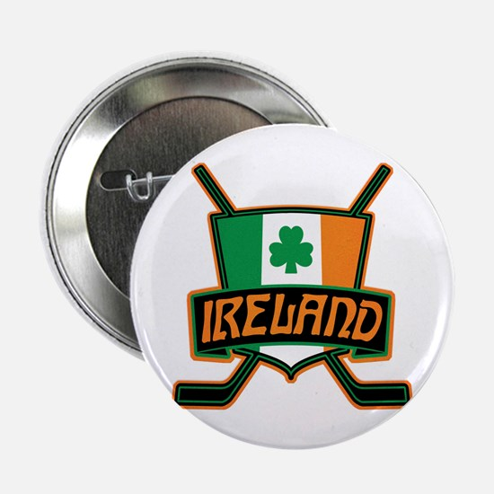 "Ireland Irish Ice Hockey Shield 2.25"" Button"