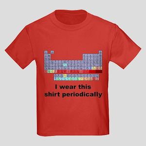 I Wear This Shirt Periodically Kids Dark T-Shirt
