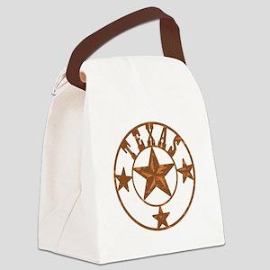 Texas Stars Canvas Lunch Bag