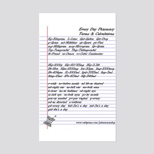 Pharmacy Terms & Calculations Sticker (Rectangular