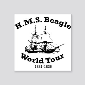 HMS Beagle world tour Oval Sticker