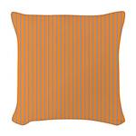 Blue Orange stripes [O] Woven Throw Pillow