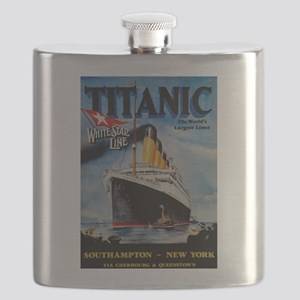 Vintage Titanic Travel Flask