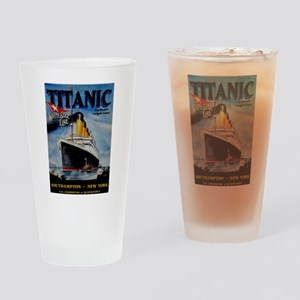 Vintage Titanic Travel Drinking Glass