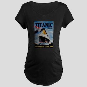 Vintage Titanic Travel Maternity T-Shirt