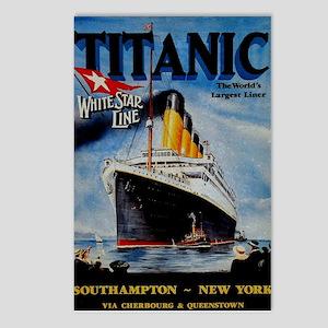 Vintage Titanic Travel Postcards (Package of 8)