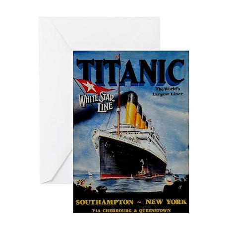 Vintage Titanic Travel Greeting Card