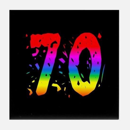 Confetti Rainbow 70 Tile Coaster