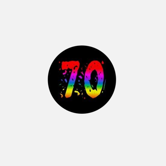 Confetti Rainbow 70 Mini Button