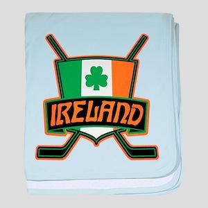 Ireland Irish Ice Hockey Shield baby blanket