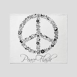 Peace Sketch Throw Blanket