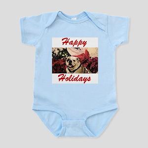 Happy Holidays Bulldog Infant Bodysuit