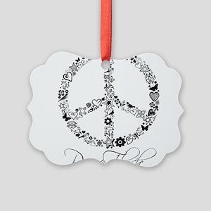 Peace Sketch Ornament