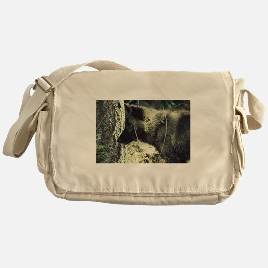 """Young Black Wolf"" Messenger Bag"