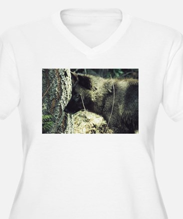 """""""Young Black Wolf"""" Plus Size T-Shirt"""