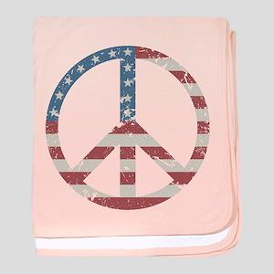 Vintage Peace USA baby blanket