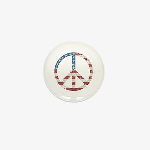 Vintage Peace USA Mini Button