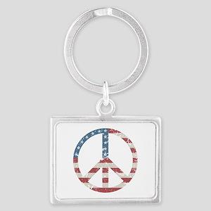 Vintage Peace USA Landscape Keychain