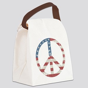 Vintage Peace USA Canvas Lunch Bag