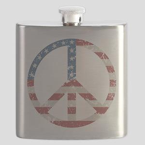 Vintage Peace USA Flask