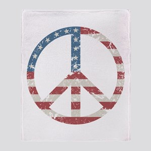 Vintage Peace USA Throw Blanket