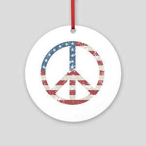 Vintage Peace USA Ornament (Round)
