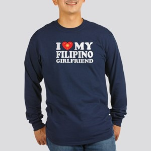 I Love my Filipino Girlfrien Long Sleeve Dark T-S