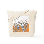 Blue Orange Burst Tote Bag