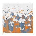 Blue Orange burst Tile Coaster