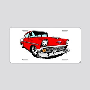 1956 Bel Air Red 2 Door Aluminum License Plate
