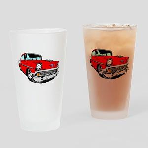 1956 Bel Air Red 2 Door Drinking Glass
